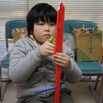 「今度(の剣)は、『板』で作ることに挑戦してみてん」